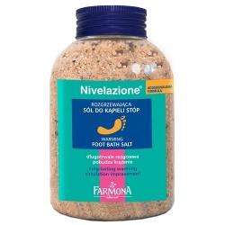 NIVELAZIONE stopy Rozgrzewająca sól do kąpieli stóp, 600 g