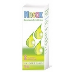NOSOX 0,025%, krople, 10 ml