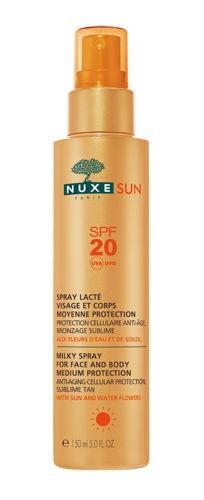 Mleczko do opalania twarzy i ciała SPF 20 NUXE Sun, 150 ml
