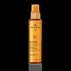 Brązujący olejek do opalania twarzy i ciała SPF 30 NUXE Sun, 150 ml