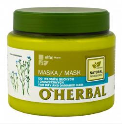 o herbal maska do włosów z lnem