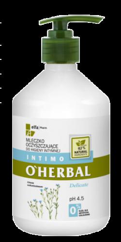 o herbal płyn do higieny intymnej z ekstraktem z lnu