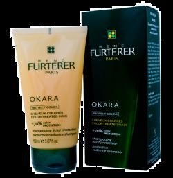 RENE FURTERER OKARA Szampon do włosów farbowanych BLOND pasemka +70% koloru włosy farbowane 200ml