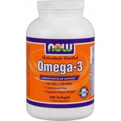 NOW - Omega-3 - 500 kaps