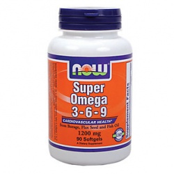 NOW - Omega-3-6-9 1200 mg Super - 90 softgels