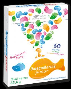 OmegaMarine Junior, kapsułki, 60 szt