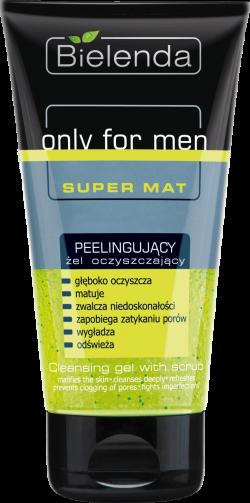 Only for Men SUPER MAT Peelingujący żel oczyszczający, 150 ml