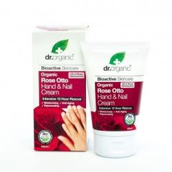 Organiczny Krem do Rąk i Paznokci Olejek Różany, 125 ml