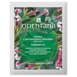 Orientana, Maska z naturalnego jedwabiu pod oczy Kaskaryla, 2 szt