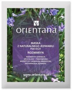 Orientana, Maska z Naturalnego Jedwabiu pod oczy Rozmaryn, 2 szt