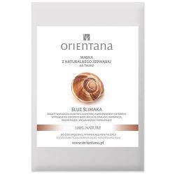 Orientana, Maska z naturalnego jedwabiu na twarz Śluz Ślimaka, 1 szt