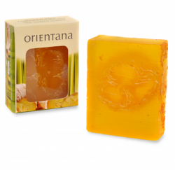 Orientana, Naturalne mydło Luffa, Imbir i Trawa cytrynowa, 100g