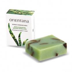 Orientana, Mydło z Masłem Shea, Eukaliptus i Drzewo herbaciane, 100g
