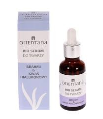 Orientana Bio, serum do twarzy, brahmi & kwas hialuronowy, 30ml