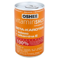Oshee Vitamin SHOT Beta Karoten z Żelazem, płyn, 150 ml