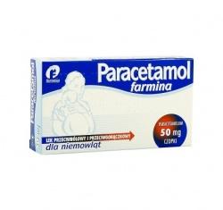 Paracetamol, czopki (dla niemowląt), 50 mg, 10 szt