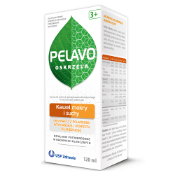 Pelavo Oskrzela, syrop 120 ml, smak wiśniowy