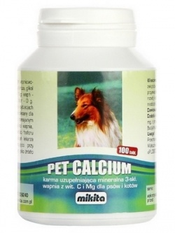 Pet Calcium, 100 tabletek