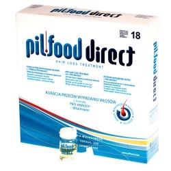 Pilfood Direct, kuracja przeciw wypadaniu włosów, 18 ampułek po 6ml