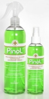 Pinol, płyn pielęgnujący do ciała zapobiegający odleżynom, 200 ml