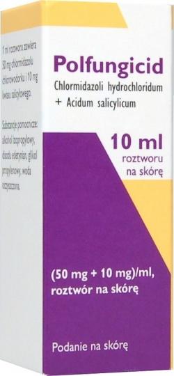Polfungicid, roztwór na skórę, 10 ml