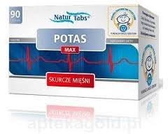 POTAS MAX NATURTABS , tabletki, 90 sztuk