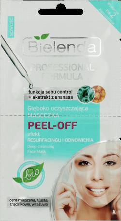 PROFESSIONAL FORMULA Głęboko oczyszczająca maseczka PEEL-OFF