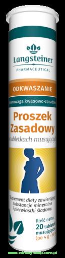 Proszek Zasadowy, tabletki musujące, 20 szt