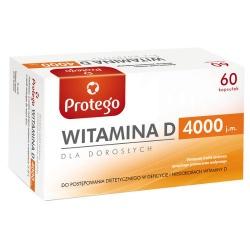 Protego Witamina D 4000, kapsułki elastyczne, 60 szt