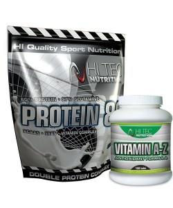 HI TEC - PROTEIN 80 + Vitamin A-Z - 2250g + 60kaps