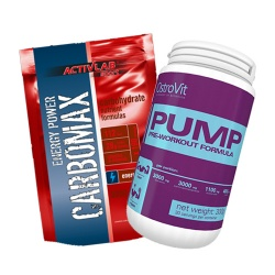 OSTROVIT - Pump Pre-Workout Formula - 300g + CARBOMAX - 3000g