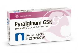 Pyralginum, czopki doodbytnicze 0,75 g (5 czopków)