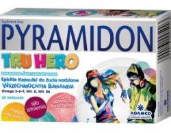 Pyramidon Tru Hero, kapsułki do żucia, 30 szt
