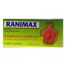 Ranimax - Ranitidinum, 150 mg, 10 tabletek