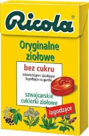Ricola Oryginalne Ziołowe, cukierki, 40 g