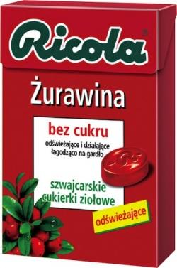 Ricola Żurawina, cukierki, 40 g