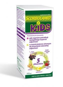 Scorbolamid Kids, syrop, 115 ml