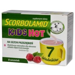 Scorbolamid Kids HOT, proszek, 3 g, 8 saszetek