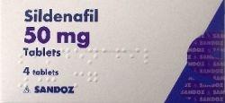 Sildenafil 50mg, 4 tabletki