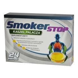 SmokerSTOP Kaszel Palacza, pastylki do ssania, 24 szt
