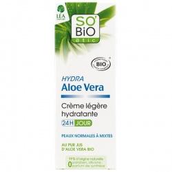 So'Bio Aloe Vera to krem na dzień do twarzy o działaniu matującym