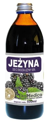 EkoMedica, Sok z Jeżyny 100%, 500 ml