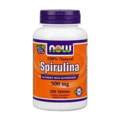 NOW - Spirulina 500 mg - 200 tabl