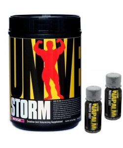 UNIVERSAL NUTRITION - Storm - 750g + 2x Xtreme Napalm Shot - 60ml - (Carnosyn, Pept)