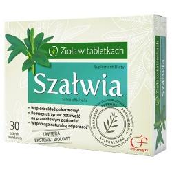 Szałwia, tabletki powlekane, 30 szt