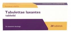 Tabulettae laxantes, tabletki przeczyszczające, 20 tabletek