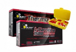 OLIMP - Thermo Speed Extreme + L-Carnitine 1500 mg Extreme + Pill Box - 120 kaps