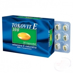 Tokovit E 100, kapsułki elastyczne, 100 j