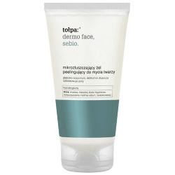 Tołpa Dermo Face, Sebio, mikrozłuszczający żel peelingujący do mycia twarzy, 150 ml