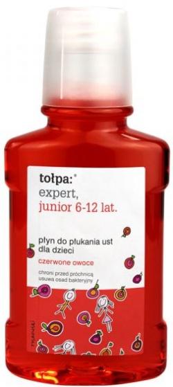 Tołpa Expert Junior, płyn do płukania ust dla dzieci 6 - 12 lat, czerwone owoce, 250 ml